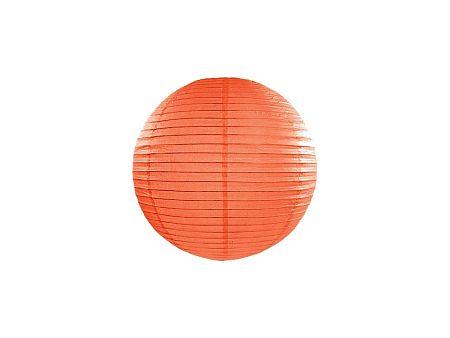 PartyDeco Kerek papír lampion - narancssárga 25 cm
