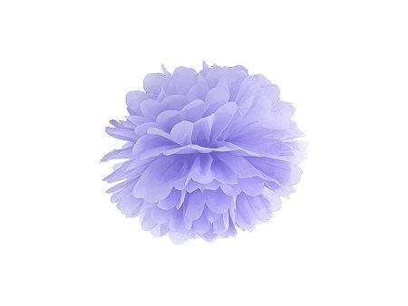 PartyDeco Pompom virág - levendula 25 cm