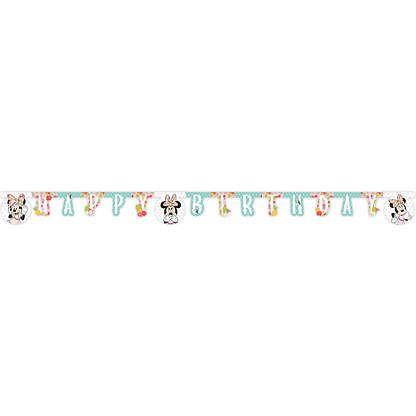 Procos Banner Happy Birthday - Minnie Tropical