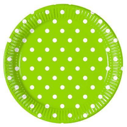 Procos Pöttyös tányérok - zöld 8 db