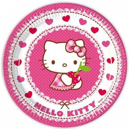 Procos Tányérok - Hello Kitty party 8 db