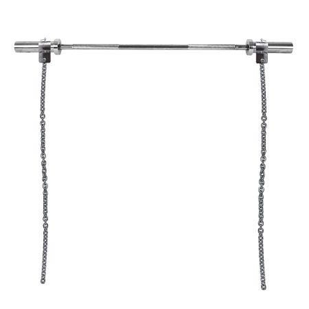 Súlyemelő lánc rúddal inSPORTline Chainbos Set 2x10 kg